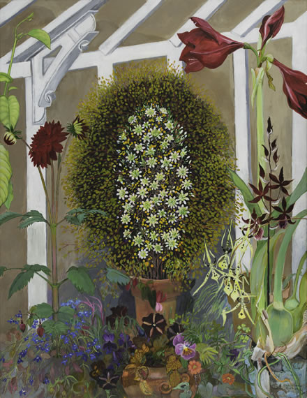 "Christiane Kubrik ""Flower Carpet in Greenhouse"""